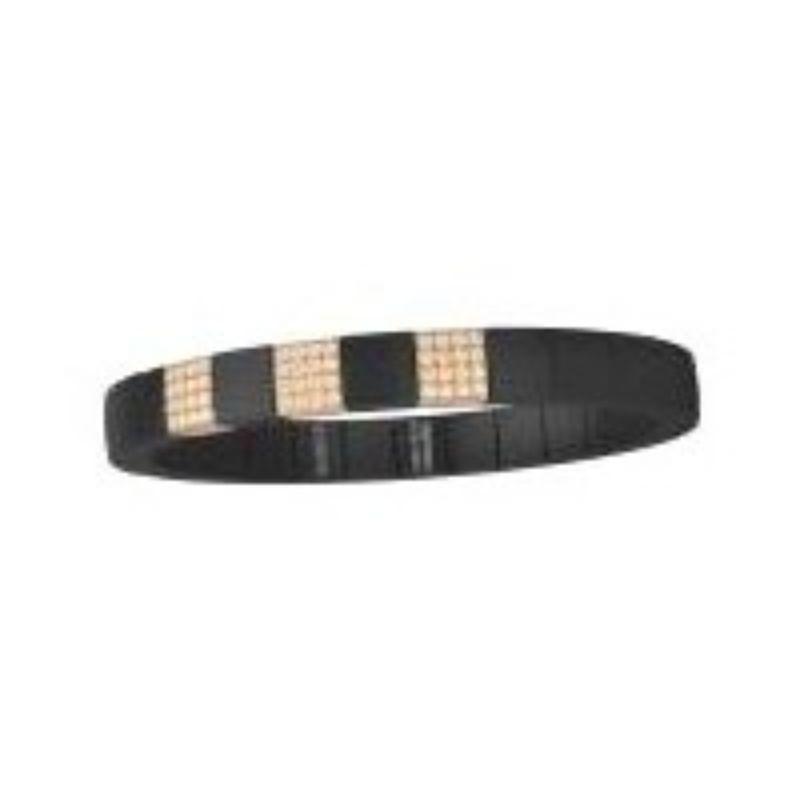 Matte Black Ceramic Stretch Bracelet with 3 Champagne Diamond Stations