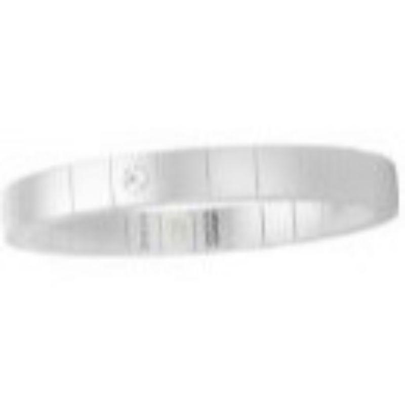 White Ceramic Stretch Bracelet with 1 Diamond Bezel