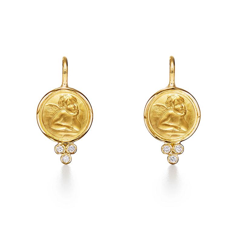 Temple St. Clair 18K Angel Earrings