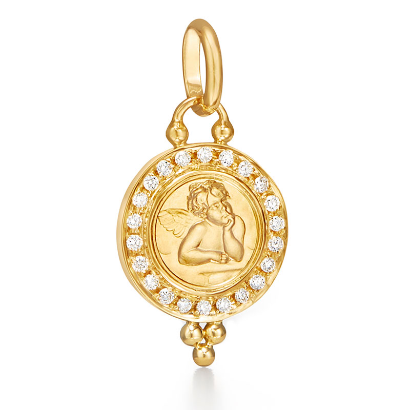 Temple St. Clair Angel Pendant