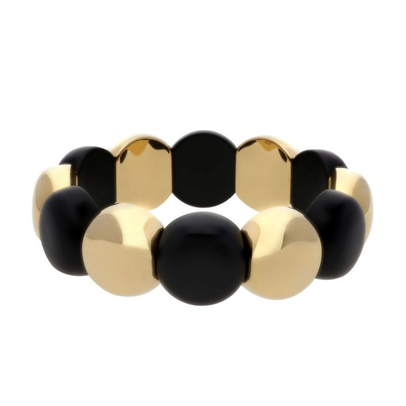 Large Aura Dama Beads with Matte Black Ceramic