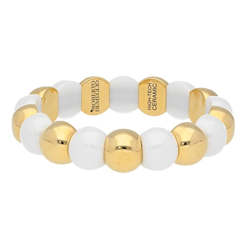 Small Aura Dama Beads with White Ceramic