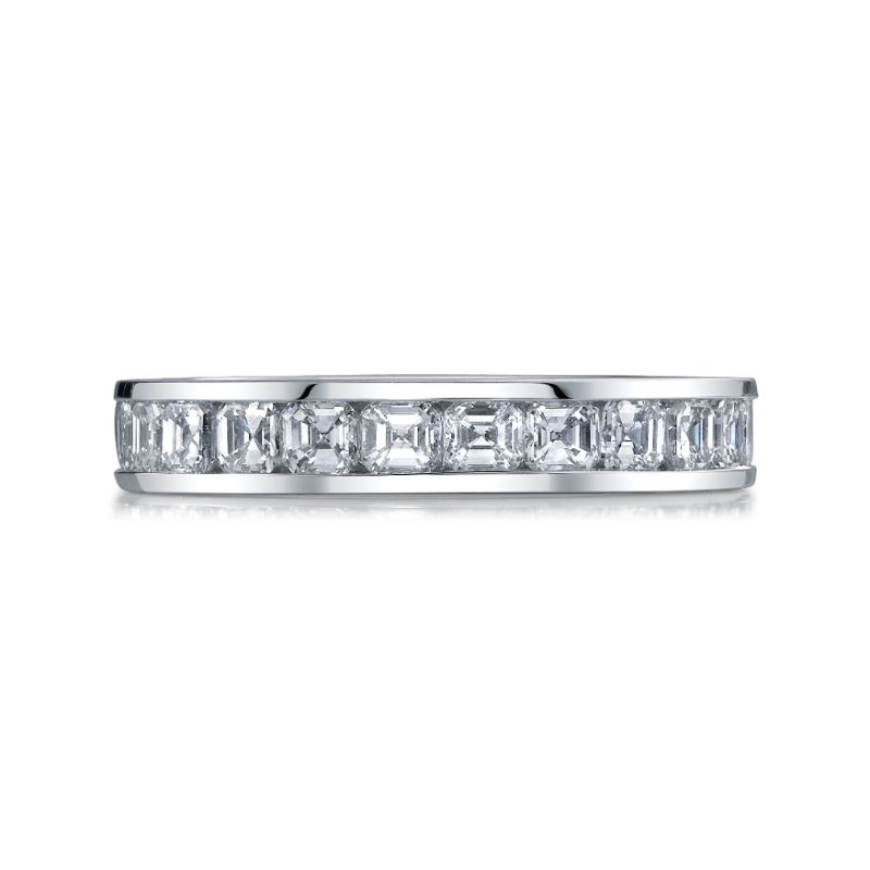 Deutsch Signature Channel Set Asscher Eternity Band