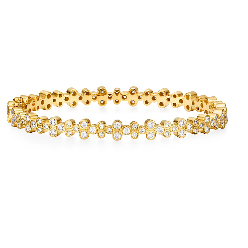 Temple St. Clair  Diamond Trio Eternity Bracelet