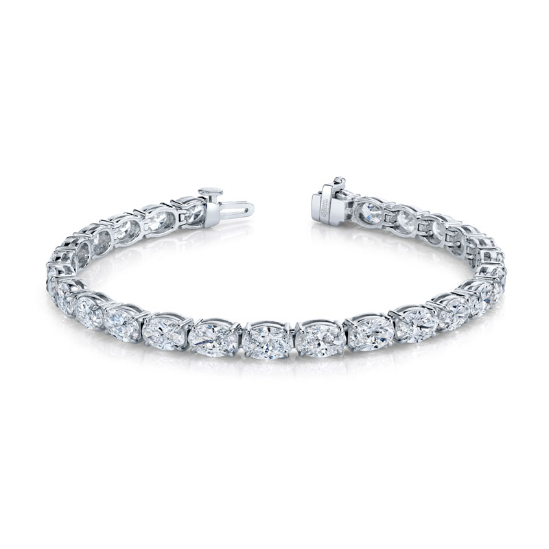 Norman Silverman Oval Cut Diamond East West Bracelet