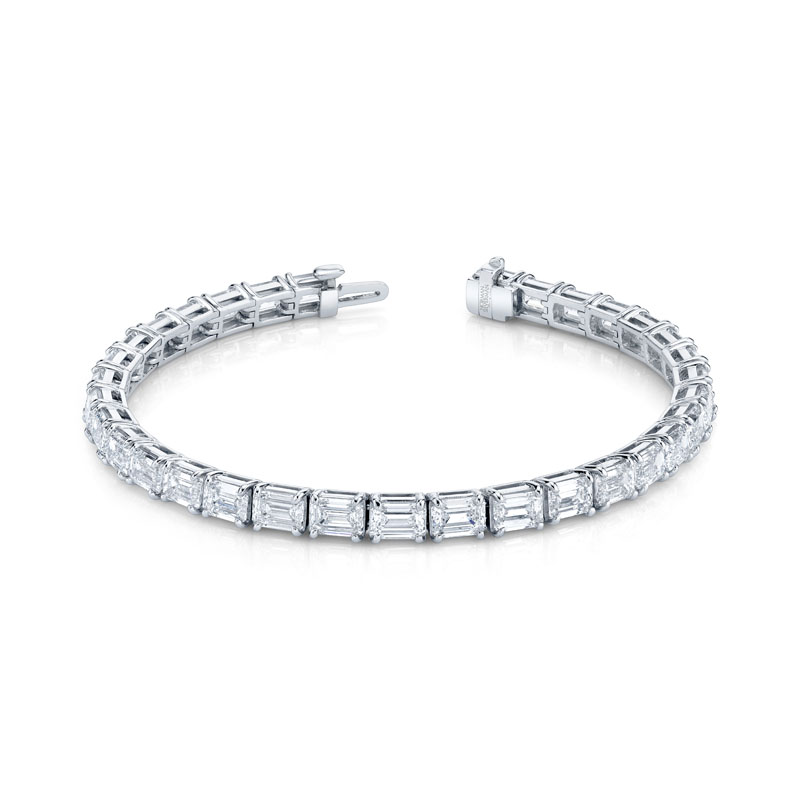 Norman Silverman Em Cut Diamond East West Bracelet