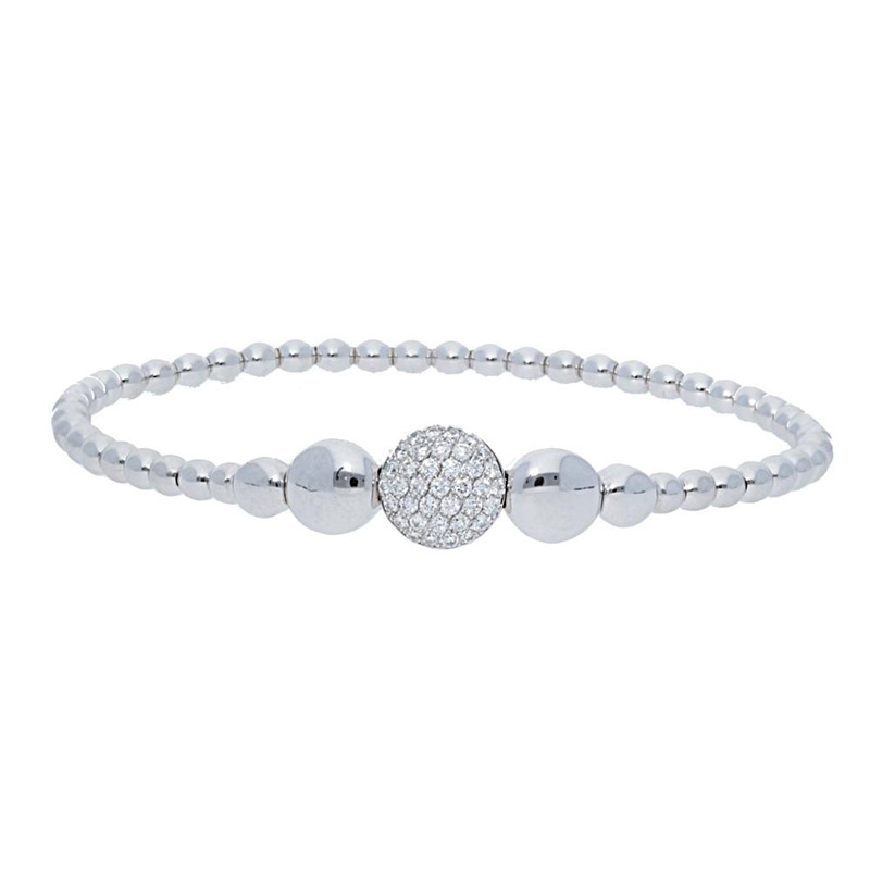 Deutsch Signature 1 Diamond Station and High Polished Beaded Bracelet