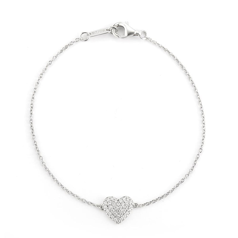 Deutsch Signature Diamond Pave Heart Bracelet