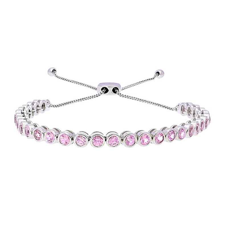 Deutsch Signature Pink Sapphire Bezel Bolo Bracelet