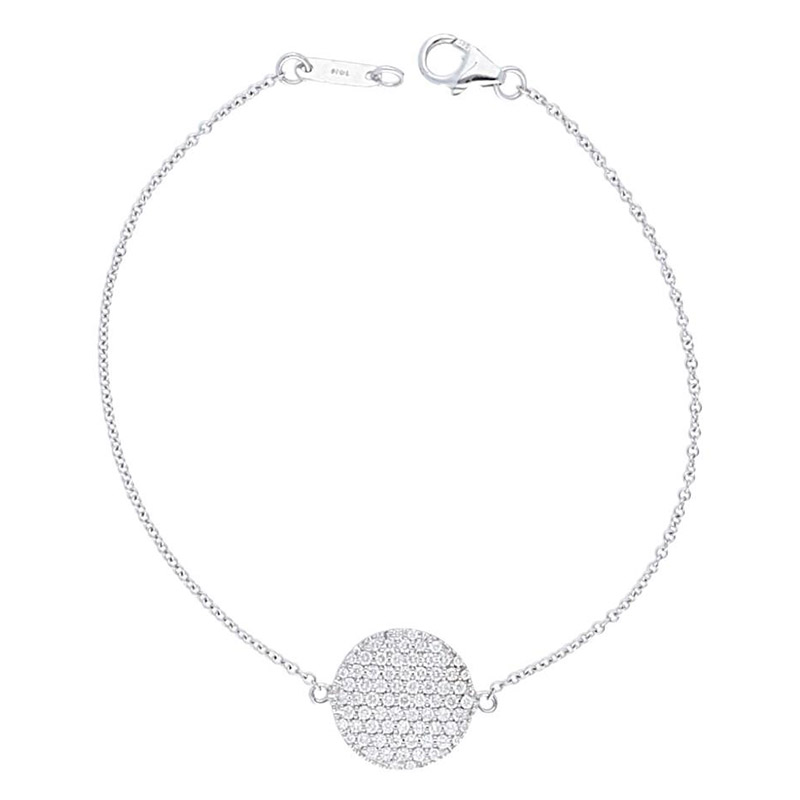 Deutsch Signature Diamond Pave Disc Bracelet
