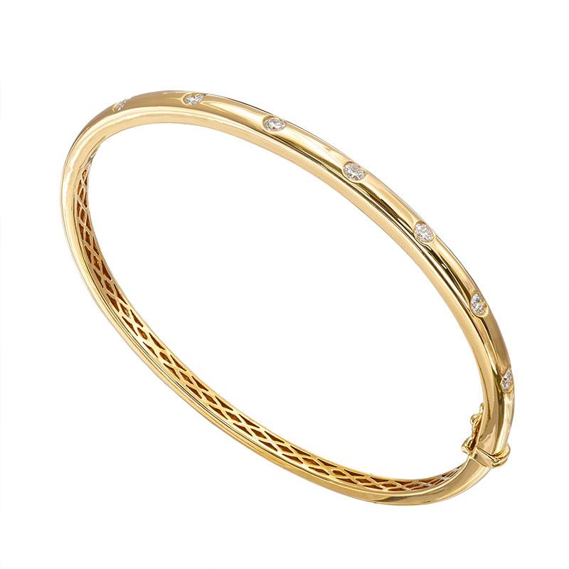 Jye's Bezel Set Bangle Bracelet