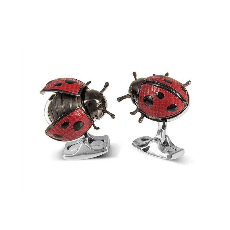 Deakin & Francis Moving Ladybug Cufflinks