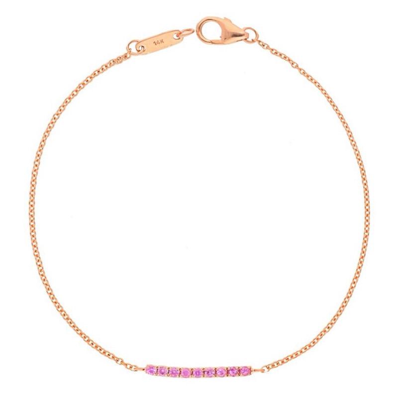 Deutsch Signature Pink Sapphire Bar Bracelet
