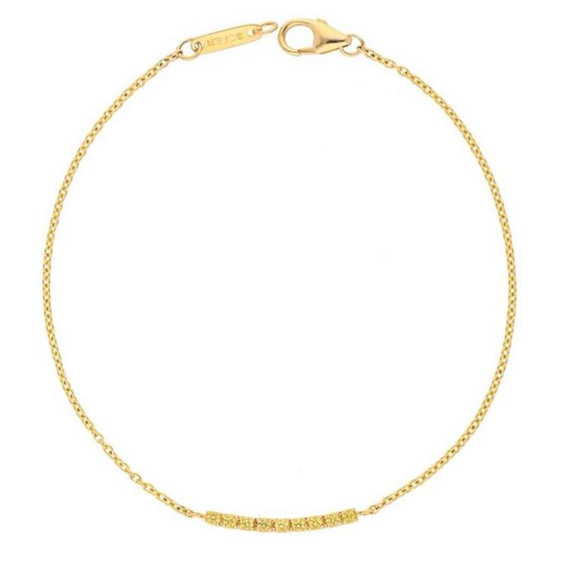 Deutsch Signature Yellow Sapphire Bar Bracelet
