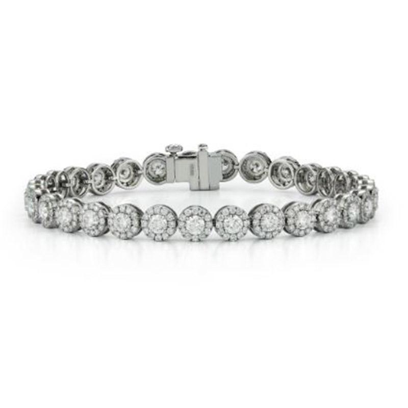 Deutsch Signature Halo Diamond Tennis Bracelet