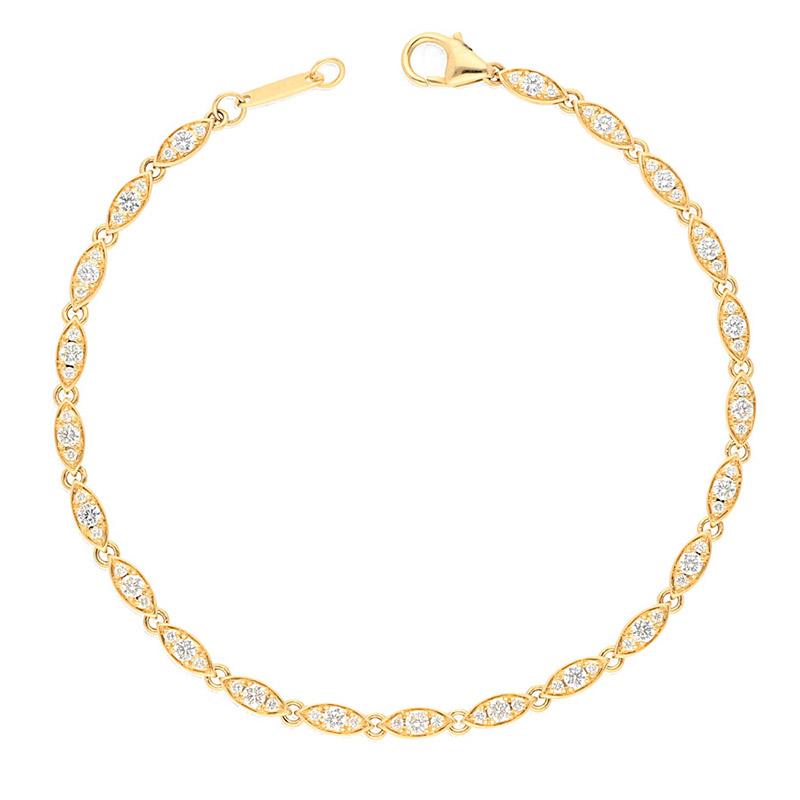 Deutsch Signature Oval Shaped Diamond Bracelet