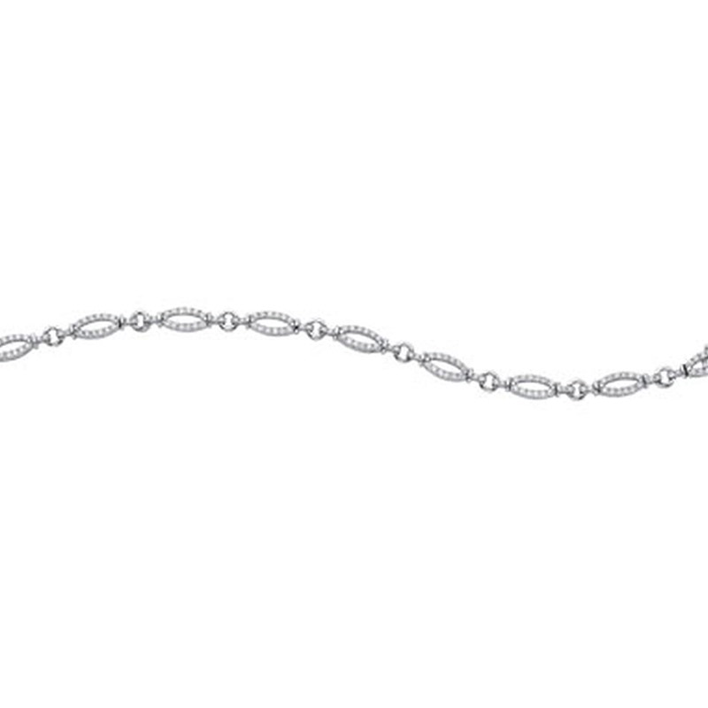 Deutsch Signature Diamond Oval Link Bracelet
