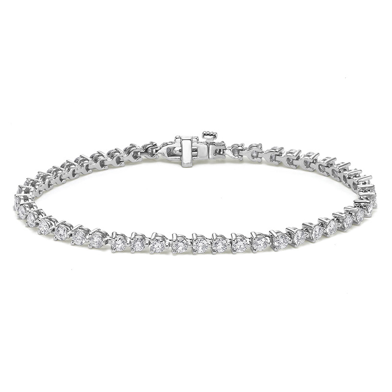 Deutsch Signature 3 Prong Diamond Tennis Bracelet