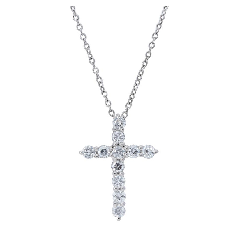 Deutsch Signature Diamond Prong Set Cross Pendant