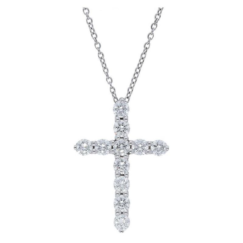 Deutsch Signature Diamond Prong Set Cross Pendant