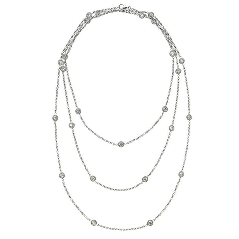 Deutsch Signature 50 Polished Bezel Diamonds by the Yard Necklace
