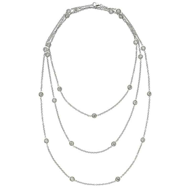 Deutsch Signature 50 Polished Bezel Diamonds by the Yard Necklace