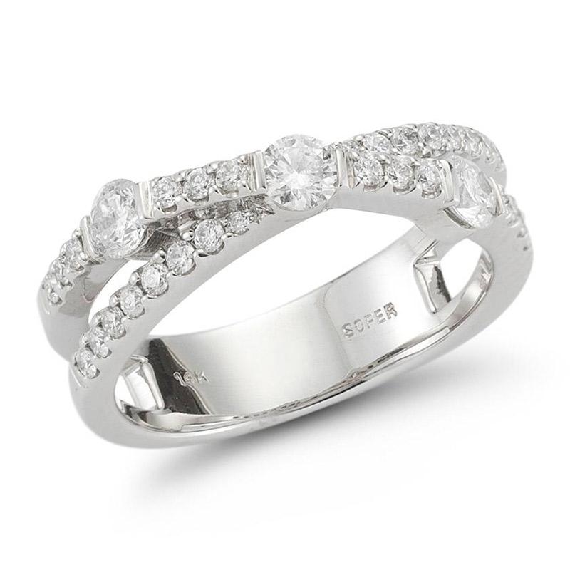 Deutsch Signature Diamond Criss Cross Ring
