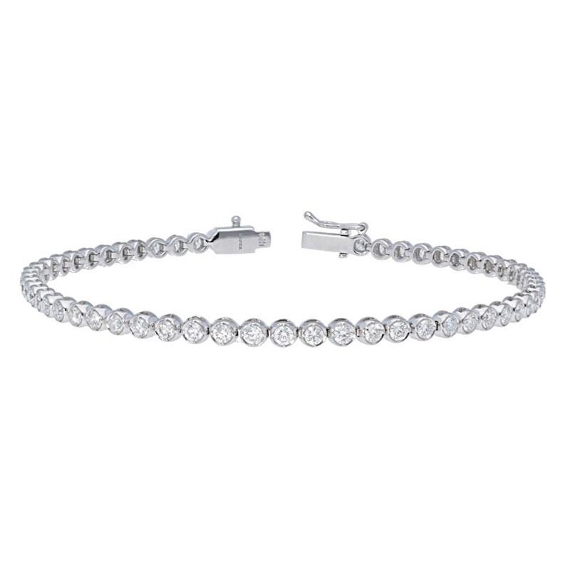 Deutsch Signature Diamond Bezel Tennis Bracelet