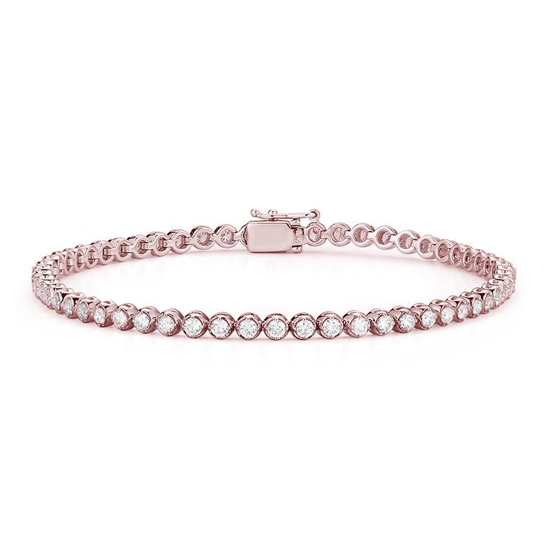 Deutsch Signature Diamond Bezel Tennis Bracelet