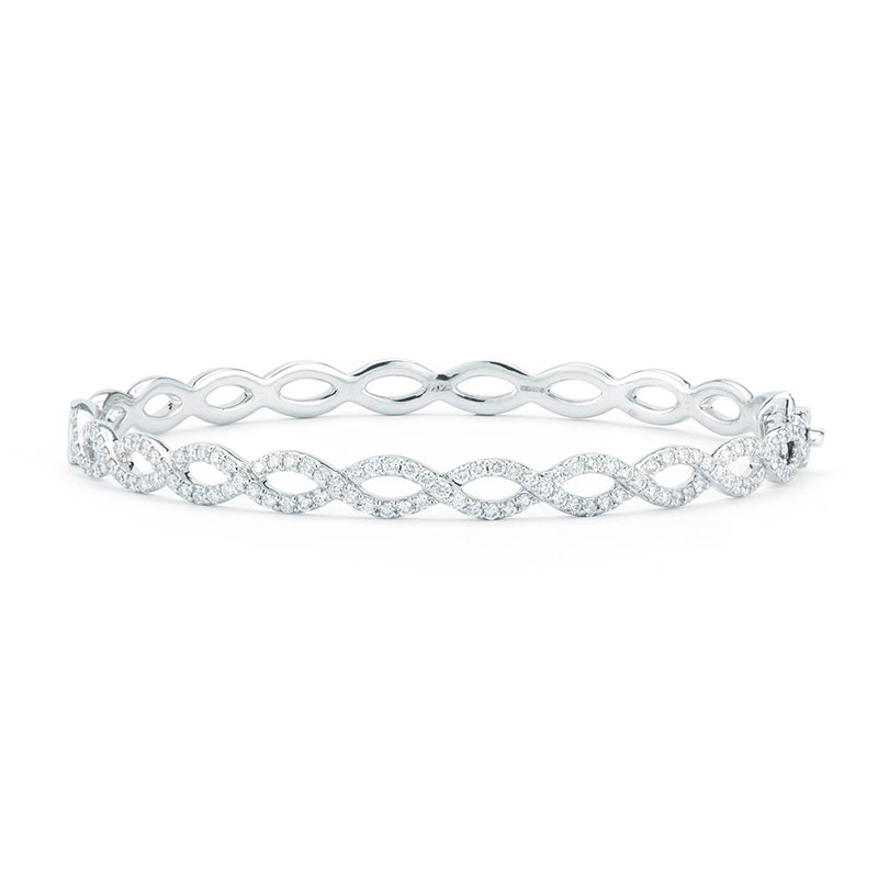 Deutsch Signature 1/2 Way Around Open Diamond Oval Bangle