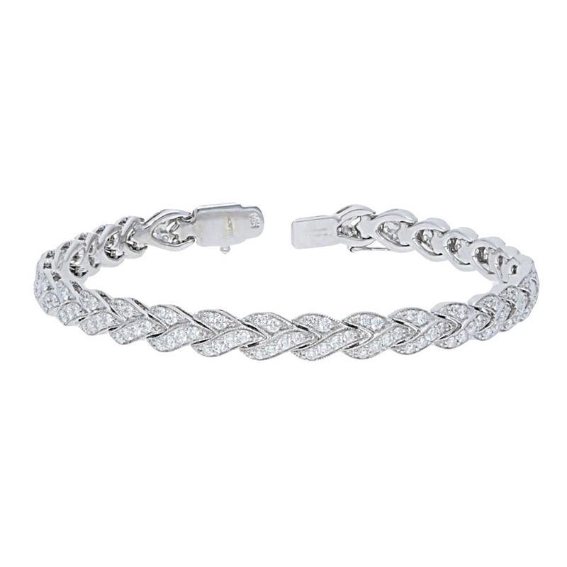 Deutsch Signature Braided Diamond Bracelet