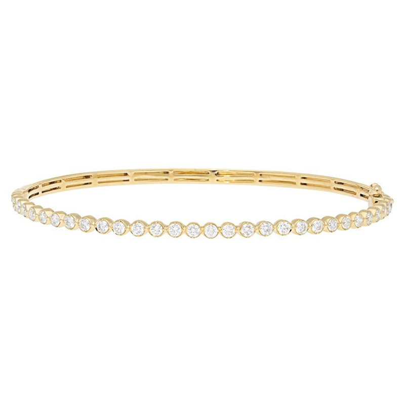 Deutsch Signature 1/2 Way Around Diamond Bezel Bangle