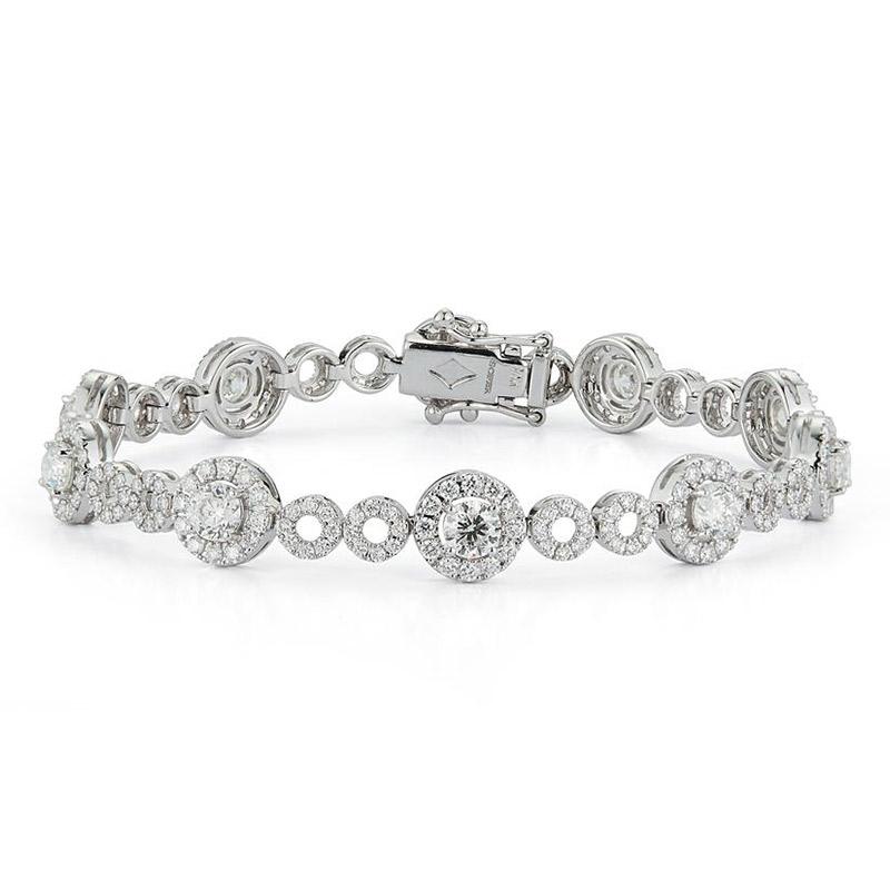 Deutsch Signature Halo Diamond Bracelet