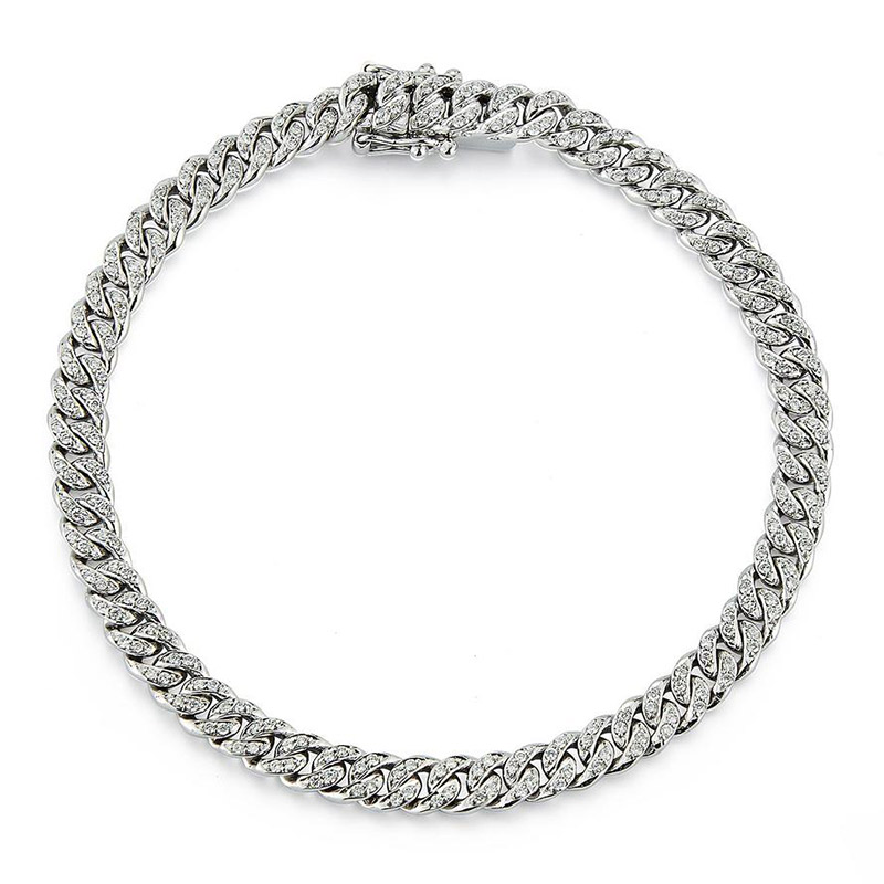 Deutsch Signature Cuban Link with Pave Diamond Bracelet