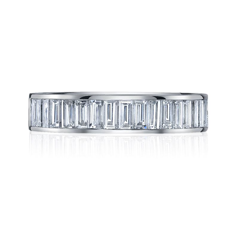 Deutsch Signature Channel Vertical Set Baguette Eternity Band