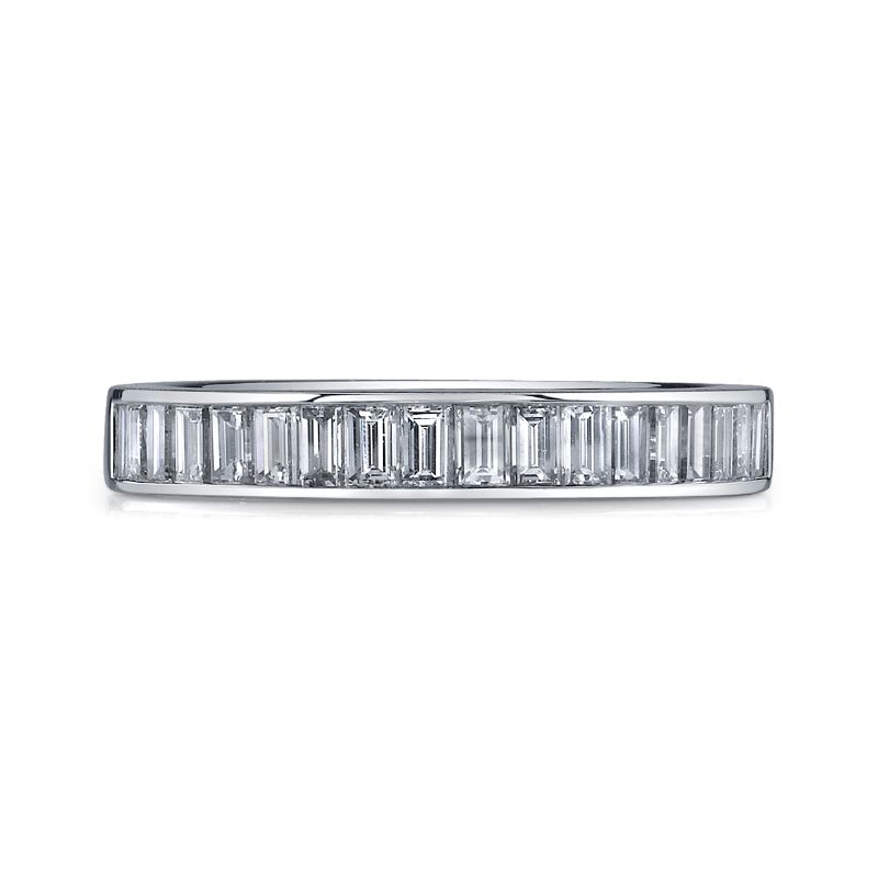 Deutsch Signature Channel Set Baguette Diamond Bands