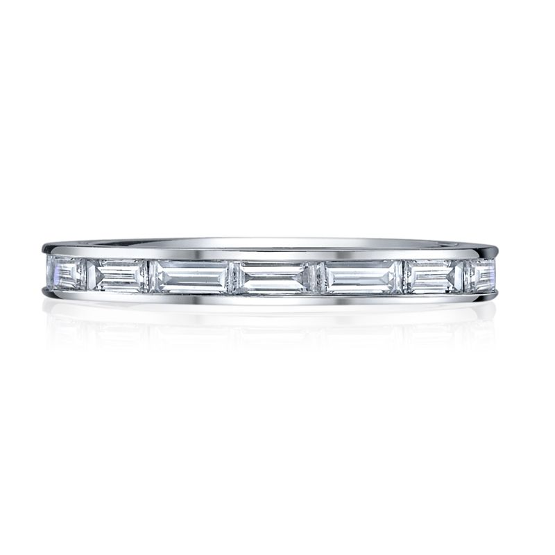 Deutsch Signature Channel Horizontal Set Baguette Eternity Band