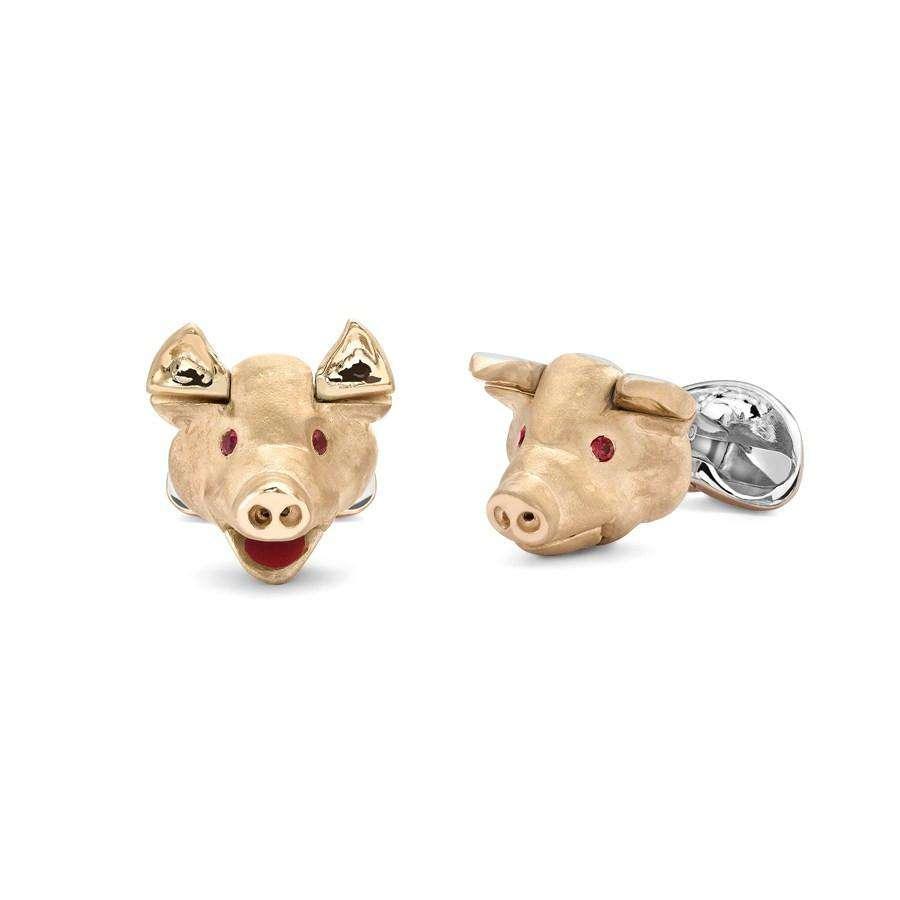 Deakin & Francis Pig Head Cufflinks