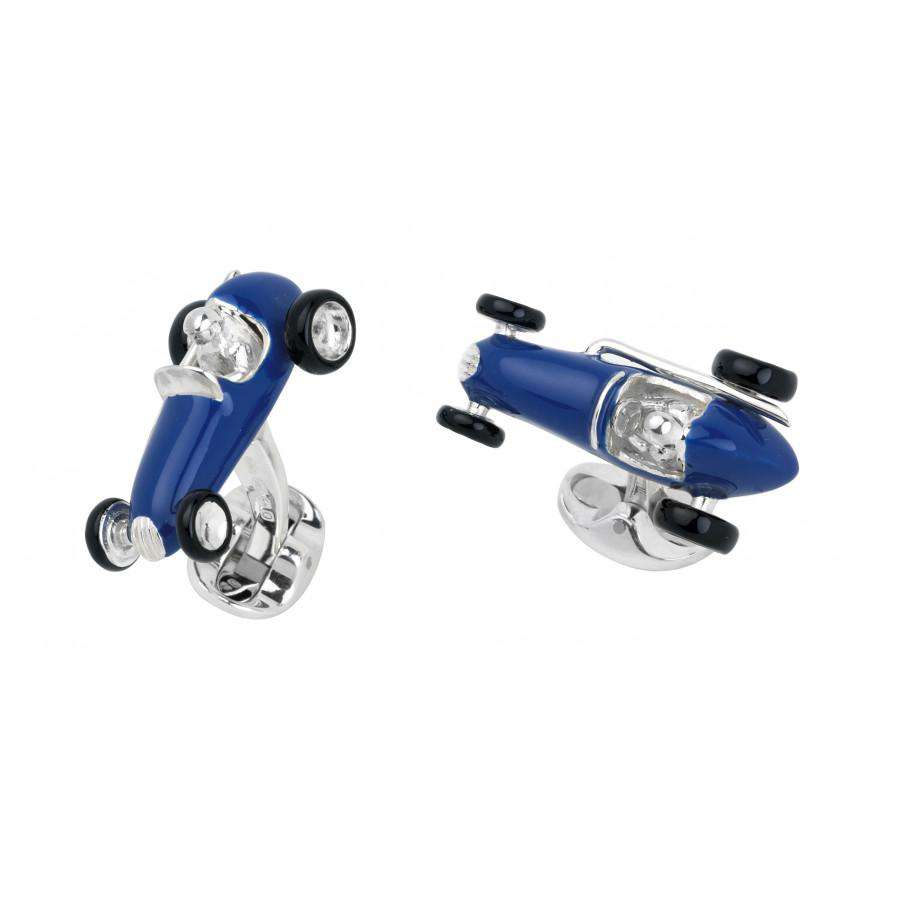 Deakin & Francis Blue Racing Car Cufflinks
