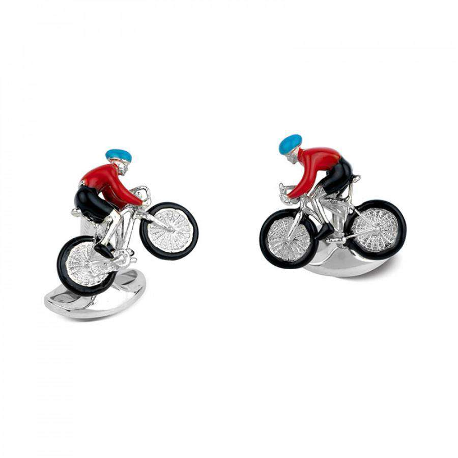 Deakin & Francis Bike And Rider Cufflinks