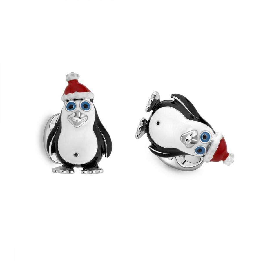 Deakin & Francis Christmas Penguin Cufflinks