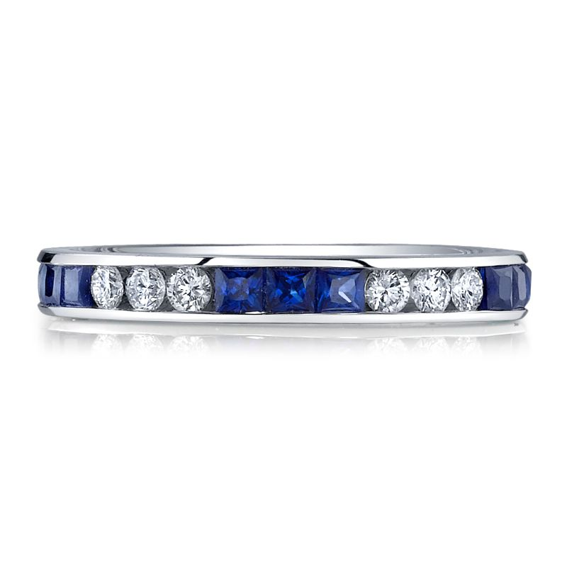 Deutsch Signature Diamond and Sapphire Eternity Band