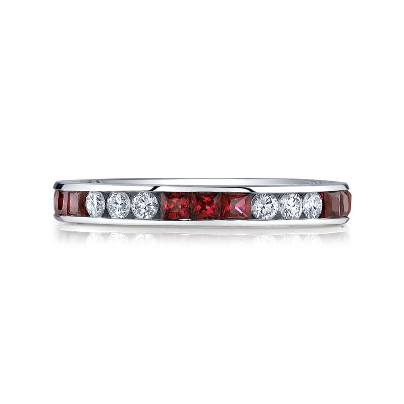 Deutsch Signature Diamond and Ruby Eternity Band