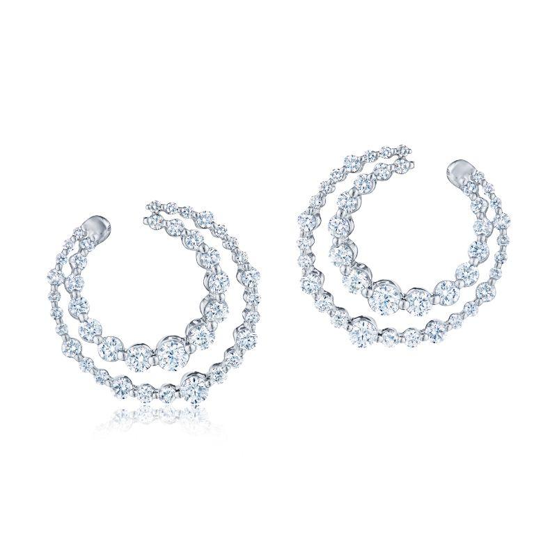 Kwiat Drop Lyric Diamond Earrings