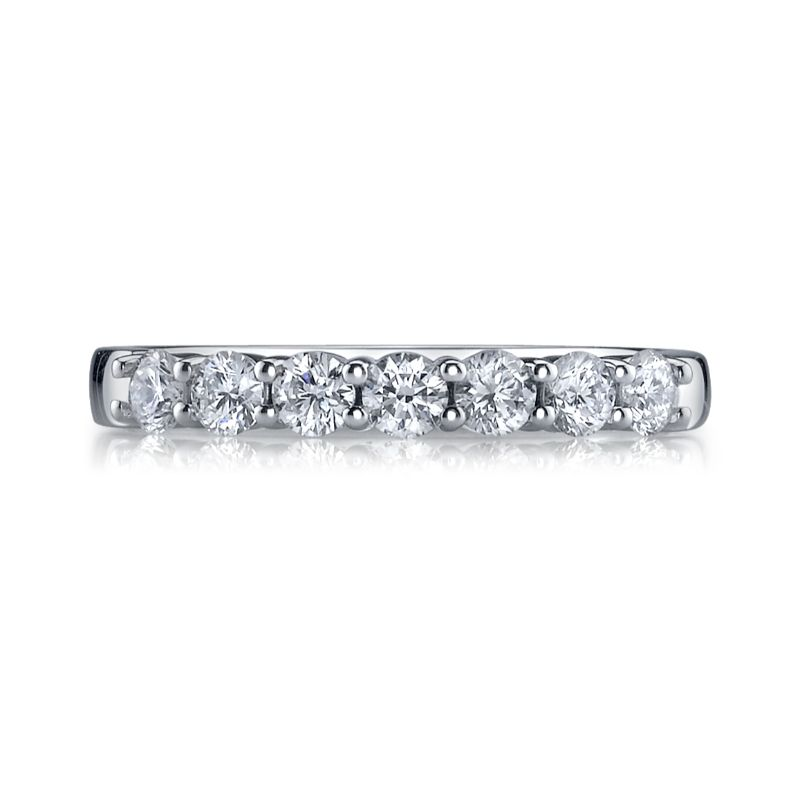 Deutsch Signature Shared Prong Diamond Halfway Band