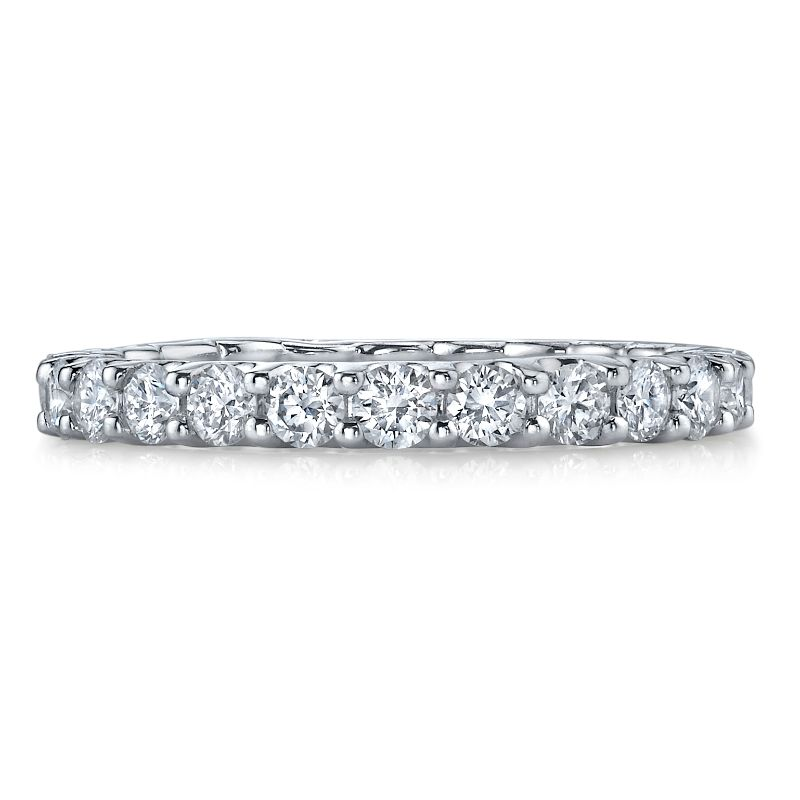 Deutsch Signature Shared Prong U Basket Diamond Halfway Band