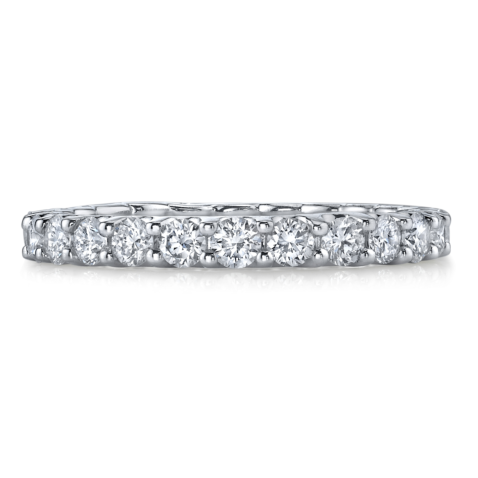 Deutsch Signature Shared Prong U Basket Diamond Eternity Band