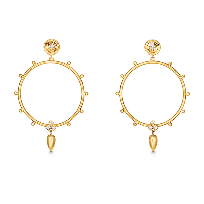 Temple St. Clair Anfora Hoop Earrings