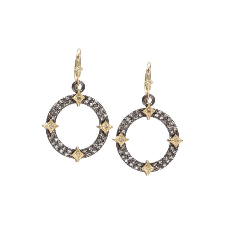 Old World Open Circle Crivelli Drop Earring