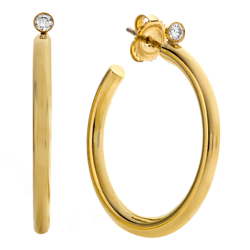 Rudolf Friedmann Gold Hoop Earrings